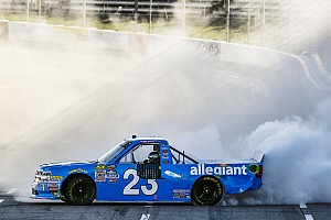 NASCAR Truck Race report Chase Elliott takes Martinsville Truck win after Bell's misfortune
