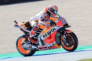 MotoGP Practice report Assen MotoGP: Marquez tops FP1, Lorenzo crashes