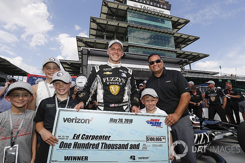 "Carpenter: First lap of Indy 500 pole run ""blew my mind"""