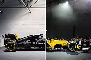 F1 Noticias de última hora Comparación visual del Renault RS16 vs RS17