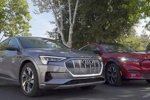 Először mérték össze az Audi e-tron Sportback és a Ford Mustang Mach-e hatótávját