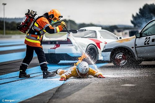 Fotos: brutal simulacro en Francia tras el accidente de Grosjean