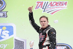 NASCAR Truck Race report Parker Kligerman takes upset win in chaotic Talladega Truck race