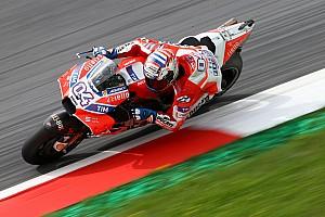 MotoGP Reporte de prácticas Dovizioso le ganó el warm-up a Márquez