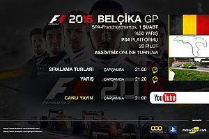 FORMULA 1 LİGİ Son dakika F1 2016 online turnuva: Belçika GP - Canlı Yayın