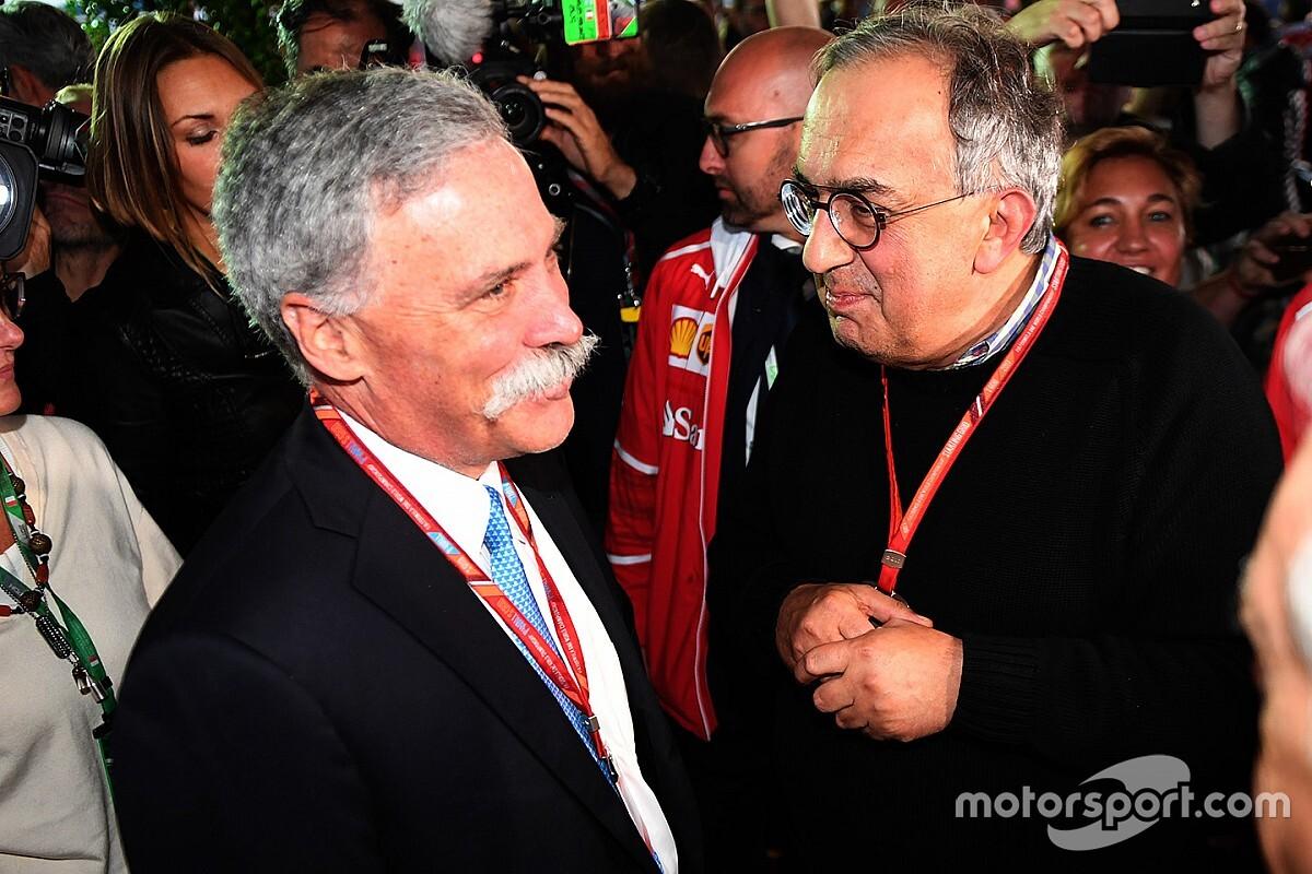 "F1 se diz ""profundamente triste"" com morte de Marchionne"