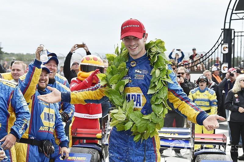 Watkins Glen IndyCar: Rossi wins, Newgarden shunts, Dixon closes
