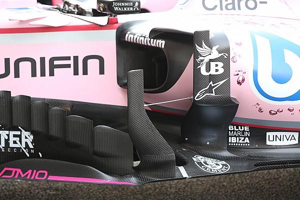 Force India: è comparso un secondo deviatore di flusso sulla VJM10