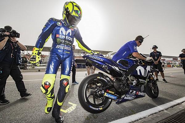 MotoGP Réactions Avec 12 pilotes dans le coup, Rossi s'inquiète de l'usure de ses pneus