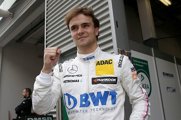 Le pilote de DTM Lucas Auer en test avec Force India