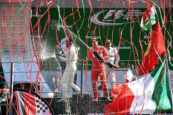 Fórmula 1 A história por trás da foto: A festa no pódio de Monza