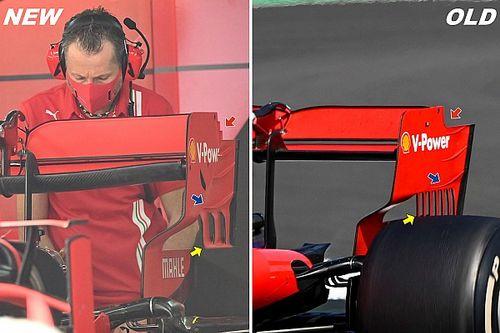 Ferrari: la paratia dell'ala posteriore è in stile Mercedes