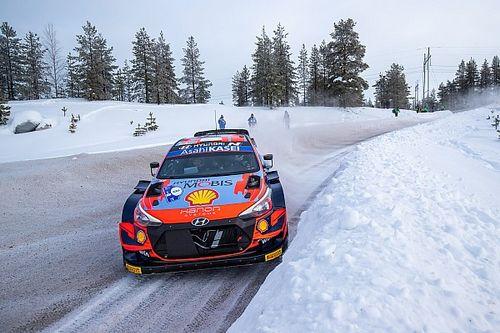 Ott Tanak se gusta en la primera jornada del Artic Rally del WRC 2021