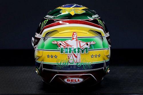 Hamilton reveals latest Senna tribute helmet