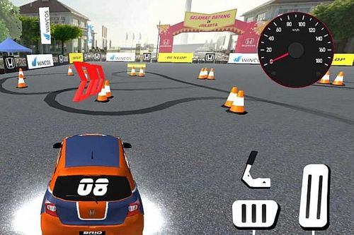 Seri Pembuka Brio Virtual Drift Challenge 2 Berlatar Belakang Monas