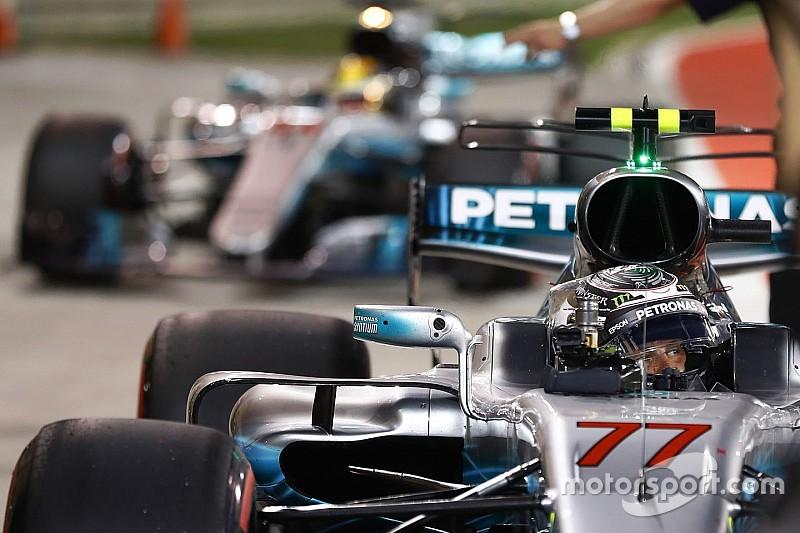 """Mercedes: Une première ligne Bottas-Hamilton, """"parfait pour nous"""""""