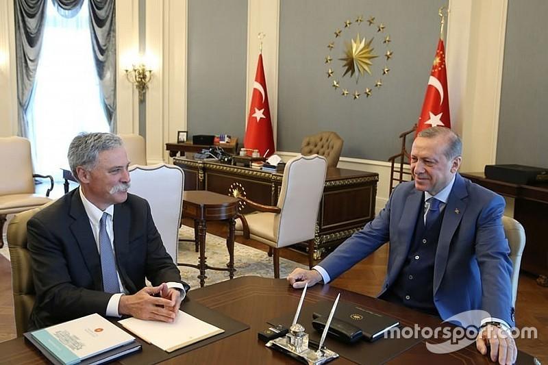 """【F1】トルコGP復活へ。大統領とリバティ・メディア""""原則的に合意"""""""