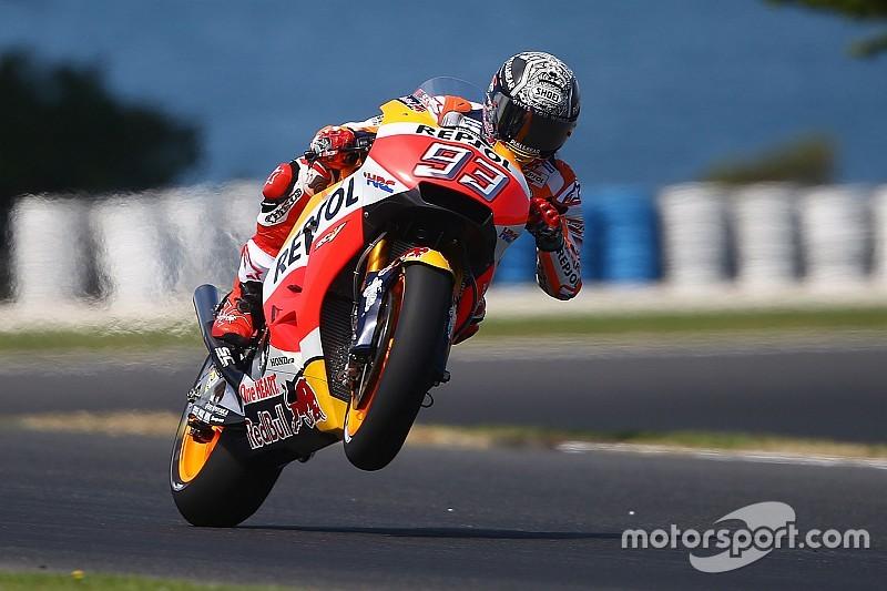 Маркес начал тесты в Австралии с лучшим временем