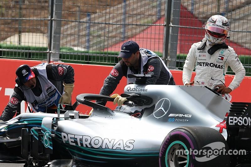 Hamilton descarta que los recientes problemas de Mercedes sean por presión de Ferrari