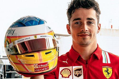 Leclerc rispolvera la livrea del primo casco della carriera