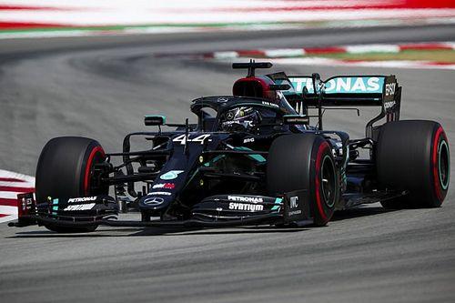 Dupla da Mercedes não consegue determinar motivos para não melhorar tempo na volta final do Q3 na Espanha