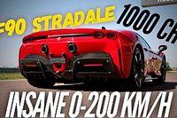 Látványos videón a Ferrari SF90 Stradale pokoli gyorsulása
