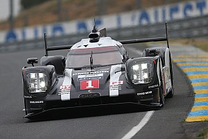 Le Mans Testing report Porsche 919 Hybrid going over 320 km/h on a country road