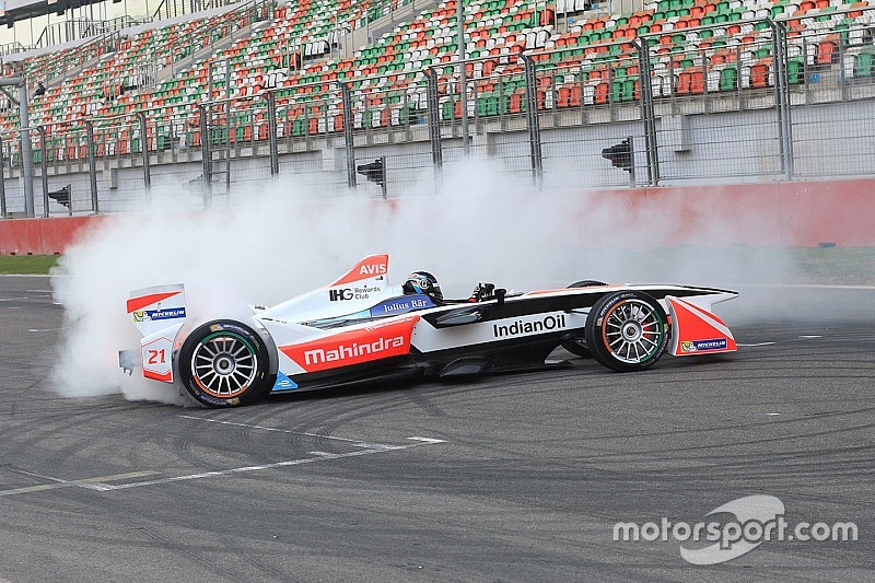Mahindra completes Formula E and Moto3 demo run at Buddh