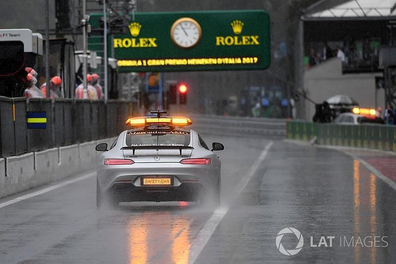 Verőfényes napsütés Monzában: no eső!