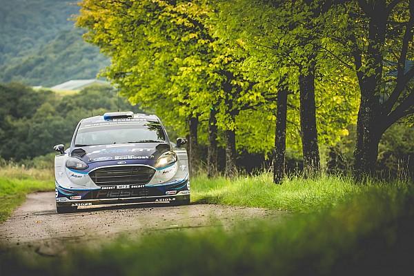 WRC Leg report Germany WRC: Tanak leads Mikkelsen, Ogier spins