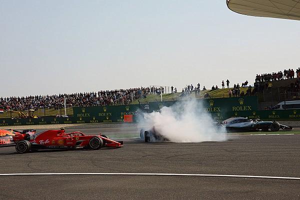 Hamilton temió chocarse contra Vettel o Verstappen en el incidente de China