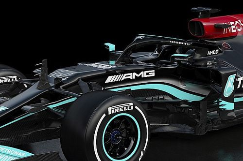 Mercedes hiding floor design for W12 F1 car