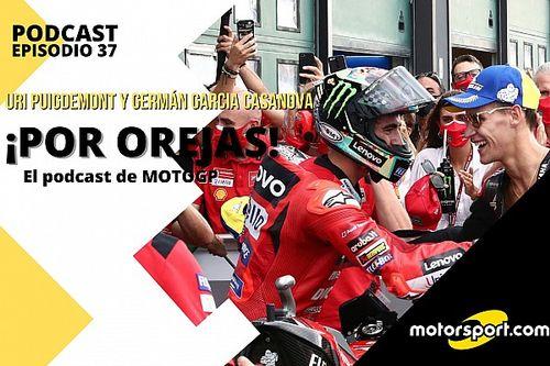 """Podcast MotoGP 'Por Orejas' – """"Quartararo y Bagnaia quieren ganar en el jardín de Márquez"""""""