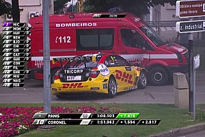 Video: Tom Coronel chocó con una camioneta de bomberos