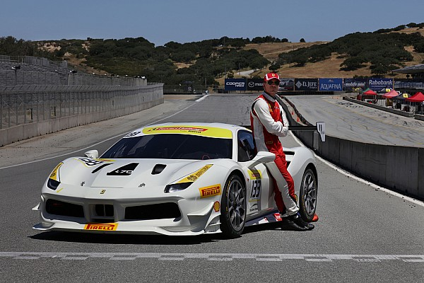 Ferrari Actor Michael Fassbender races with Ferrari