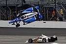 """IndyCar Castroneves sobre el accidente: """"Estaban volando. Me agaché y cerré los ojos"""