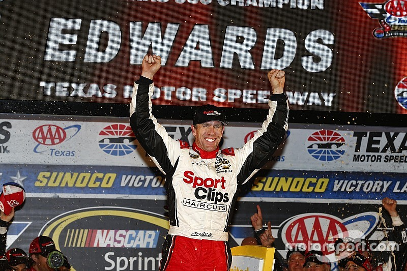 Edwards wins rain-shortened Texas race, salvaging his title hopes