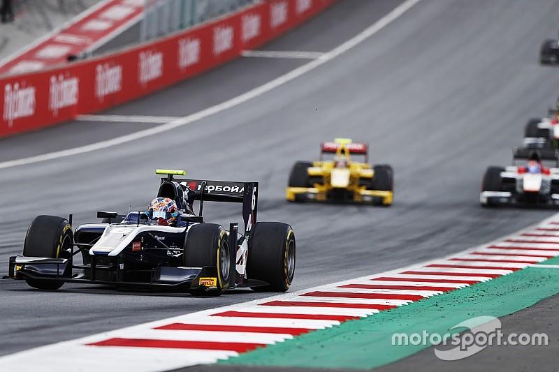 Festejo de Markelov en la Fórmula 2