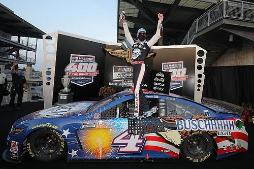 Harvick tops Kenseth in OT to snag third Brickyard 400 win
