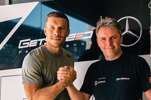 Lukas Podolski testował Mercedesa GT3