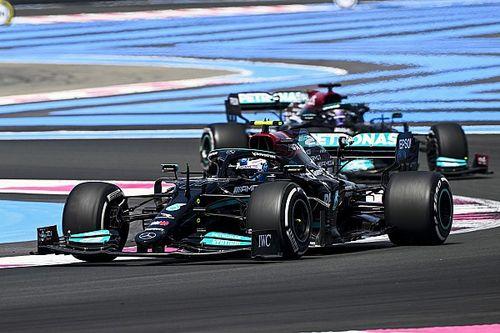 法国大奖赛FP1:博塔斯最快,梅赛德斯占据前二