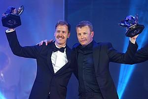 'Feliz', Raikkonen rouba cena em festa de gala da FIA