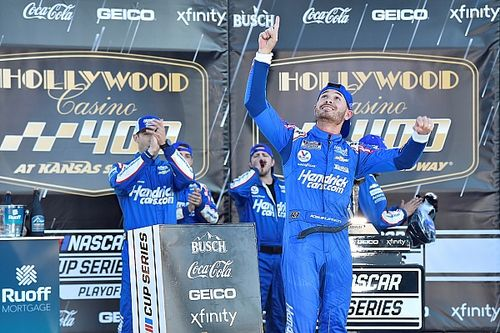 Larson takes Kansas Cup win in emotional day for Hendrick