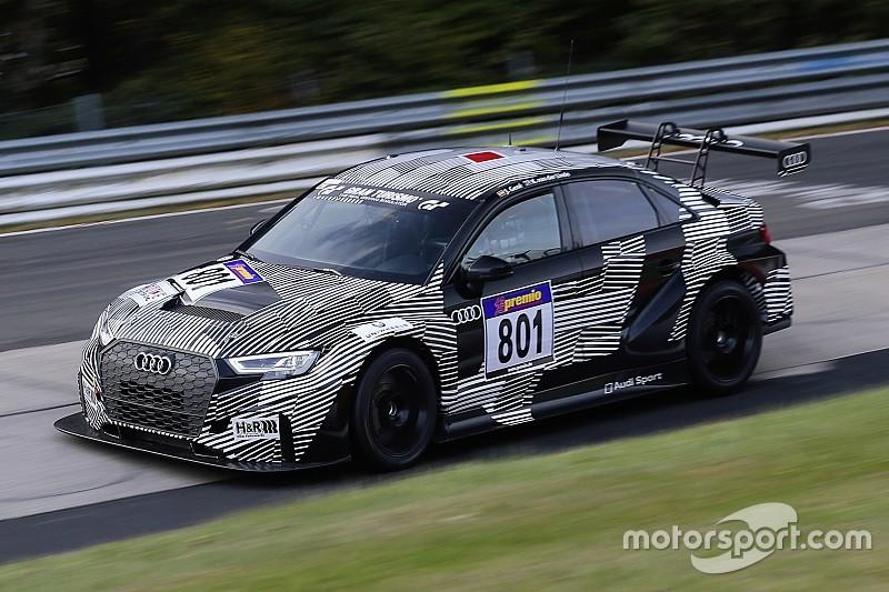 """""""Erfolgreicher Testeinsatz"""" des neuen Audi RS 3 LMS bei VLN 10"""