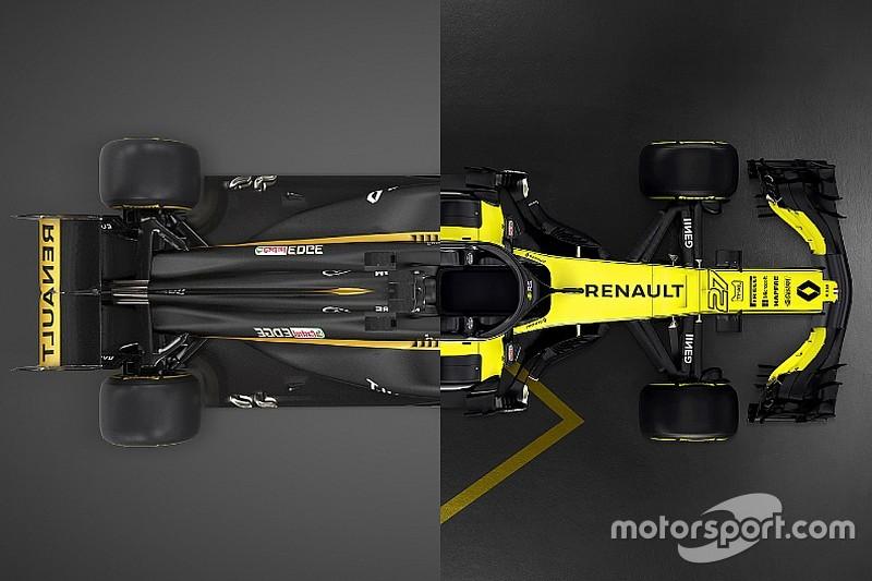 Vergelijk de nieuwe Renault R.S.18 met de bolide uit 2017