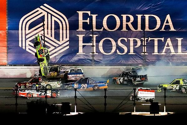 NASCAR Truck Race report Grala wins first Truck race after violent last-lap wreck