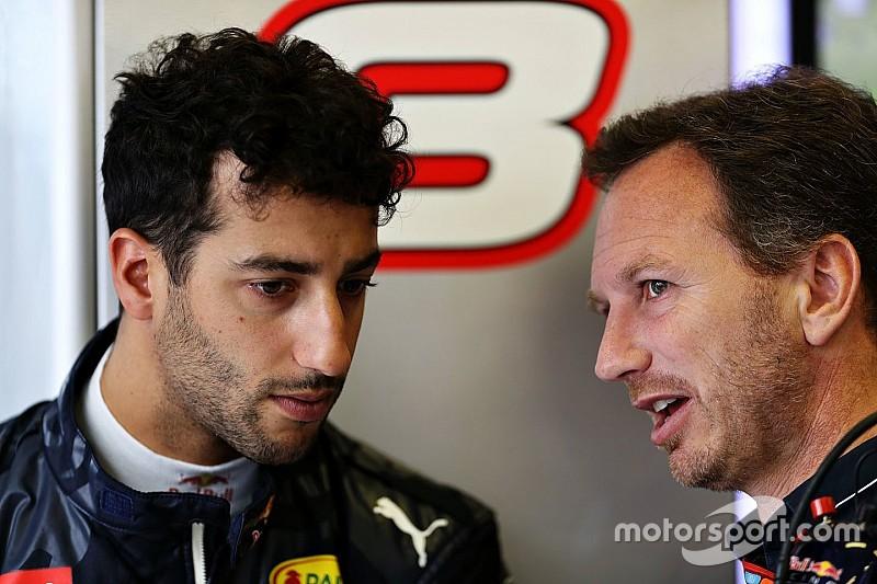 """Horner: """"Misschien was Ricciardo bang tweede rijder te worden achter Verstappen"""""""