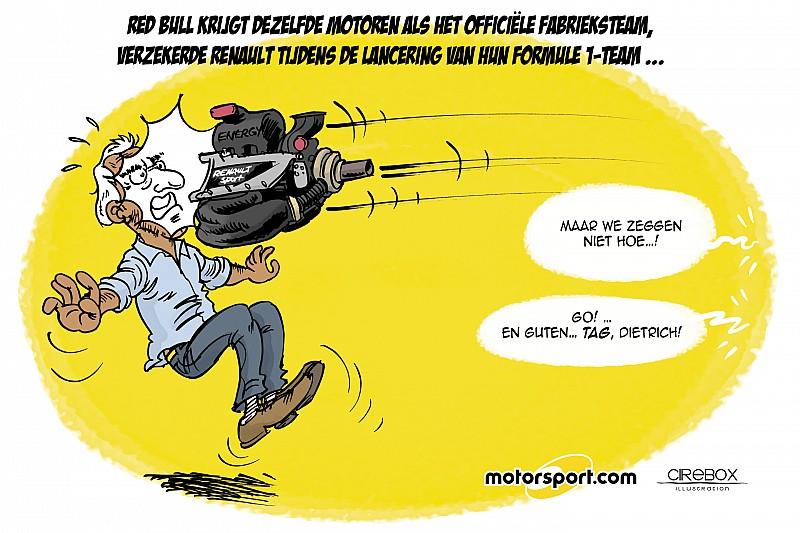 Cartoon van Cirebox - De Renault-motor voor Red Bull...
