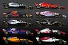 Формула 1 Инфографика: все пилоты и машины Ф1 сезона-2018