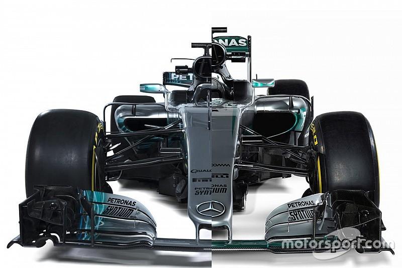 Comparación del Mercedes W08 vs. W07